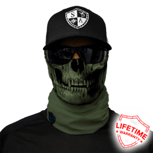 Бафф/Бандана с черепом S.A. Company TACTICAL | OD GREEN SKULL